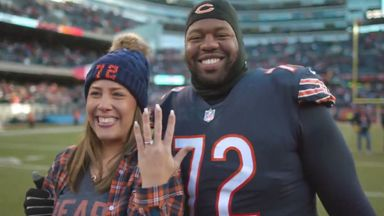 Bears player's on-field proposal
