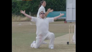 Jimmy Anderson out to James Corden!
