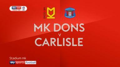 MK Dons 2-0 Carlisle