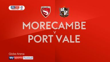 Morecambe 2-2 Port Vale