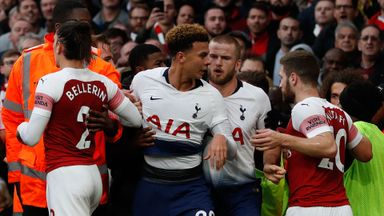 Tempers flare at the Emirates