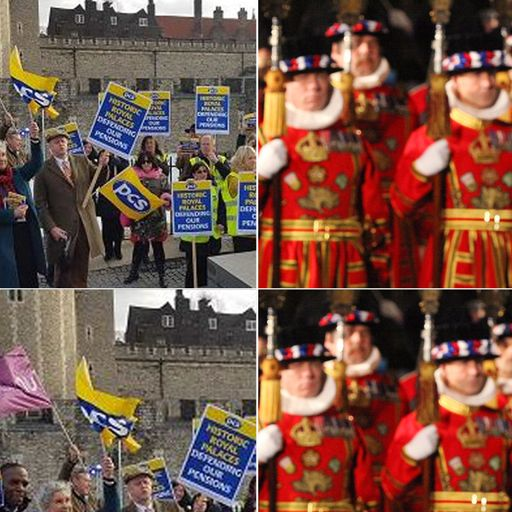 Beefeaters strike over 'unwarranted attack' on pensions