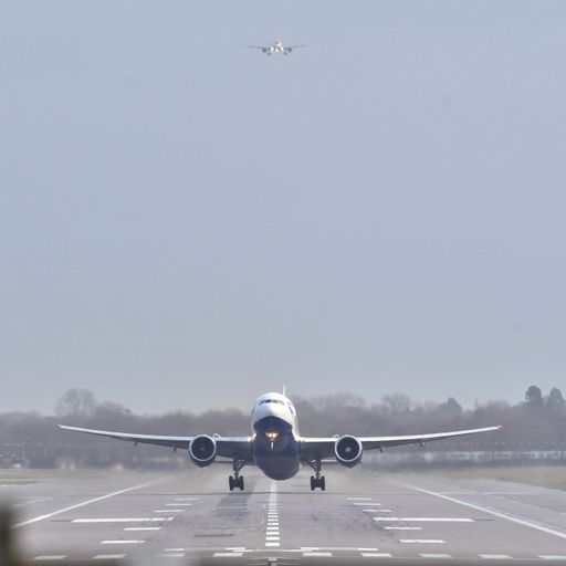 Drone 'within 20m' of jumbo jet flying into Heathrow