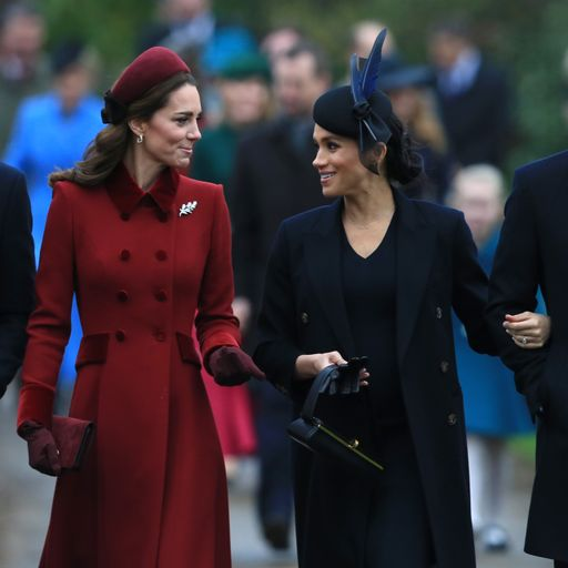 All smiles for Kate and Meghan at royal Christmas service