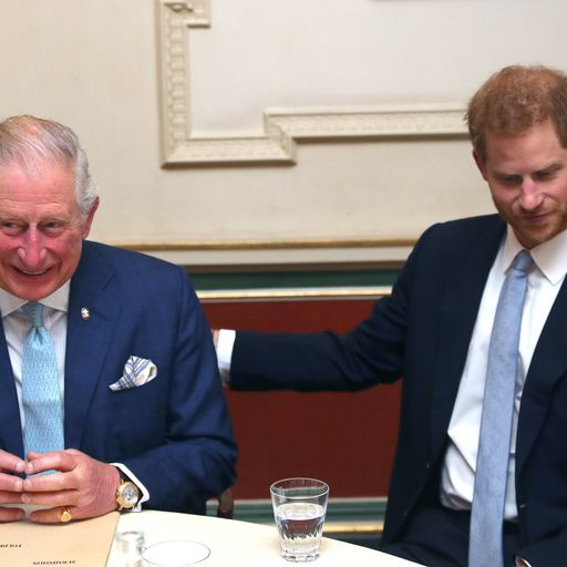 Princes Charles and Harry host event to tackle knife crime