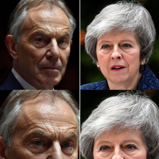 Blair and May clash over Brexit