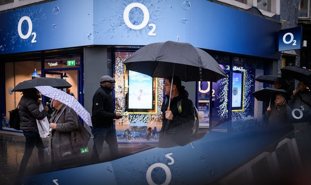 O2 4G network down across the UK