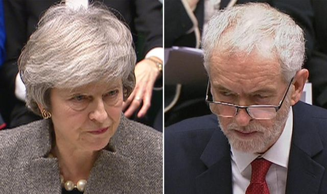May tells Corbyn it is 'impossible' to rule out 'no-deal' Brexit