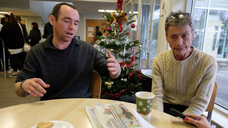 The charity Crisis runs a night shelter for the homeless over the Christmas period