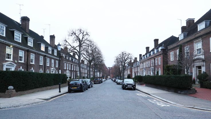 Ilchester Place in Holland Park, London