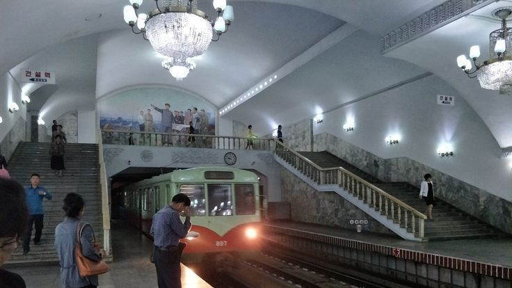Foreign students are the only foreigners that can use the Pyongyang Metro. Pic: Alek Sigley