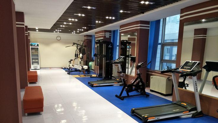 The gym in Alek's dormitory. Pic: Alek Sigley