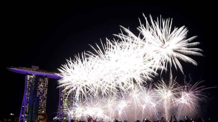 New year's celebrations in full swing at Marina Bay, Singapore