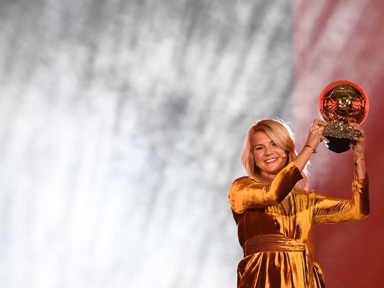 Ada Hegerberg is the first ever recipient of a women's Ballon d'Or award