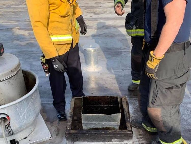 the man was unable to pull himself out. Pic: Alameda County Sheriff's Office