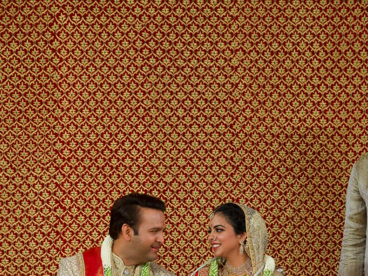 The marriage brings together two of India's most influential families
