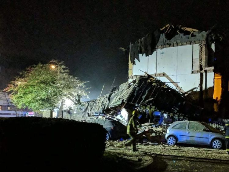 Police have found the body of a man after an explosion