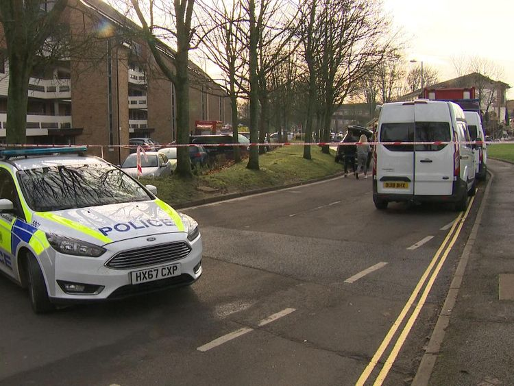 Residents have expressed their shock at the night's events