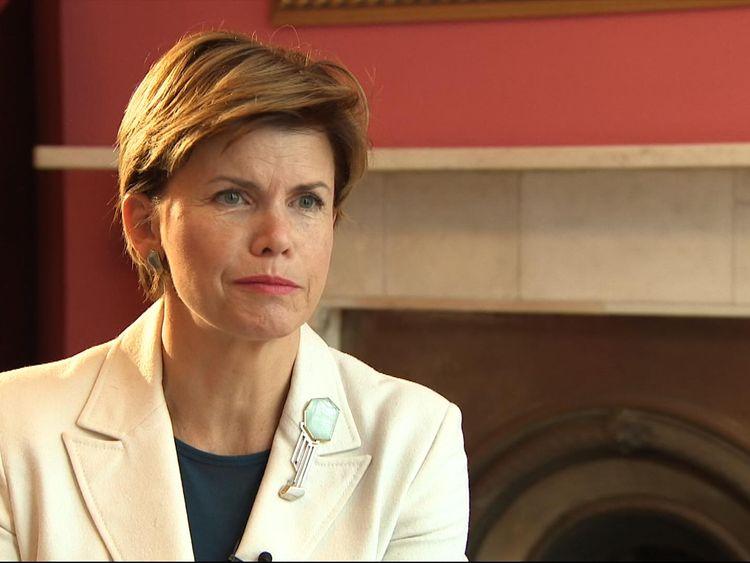 Baiba Braze, the Latvian ambassador to the UK