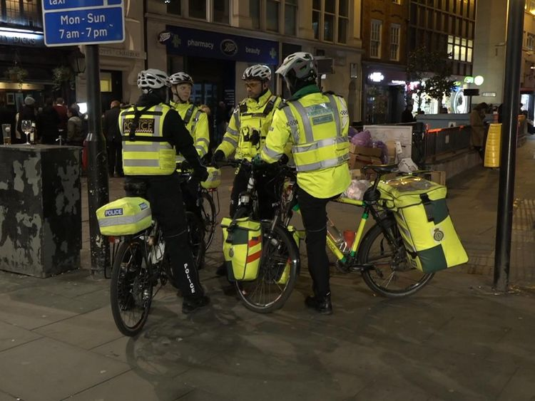 Police use bicycles