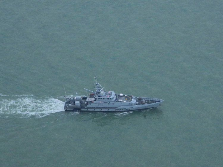 A Border Force cutter patrolling the waters off Deal. Pic: Simon Moores
