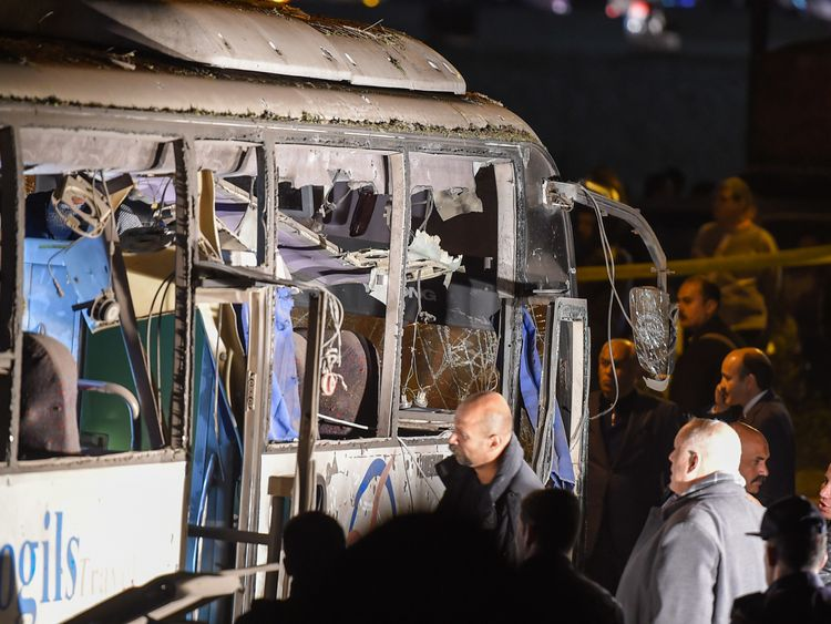 Four killed after bomb blast hits tourist bus in Cairo