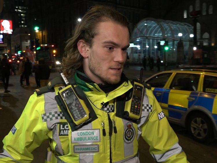Callum, a paramedic with London Ambulance