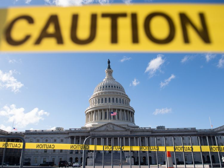 The US Capitol is seen ahead of a possible partial government shutdown in Washington, DC, December 21, 2018.