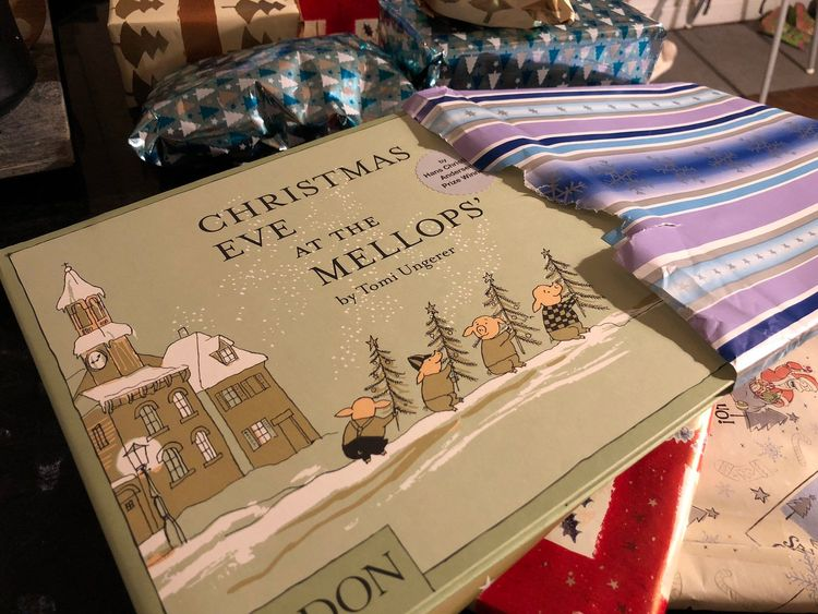 One present the parents' opened was Christmas Eve at the Mellops