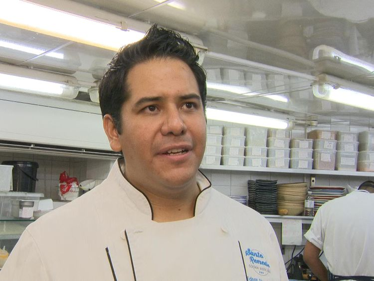 Edson Diaz Feuntes runs the Mexican eatery, Santo Remedio