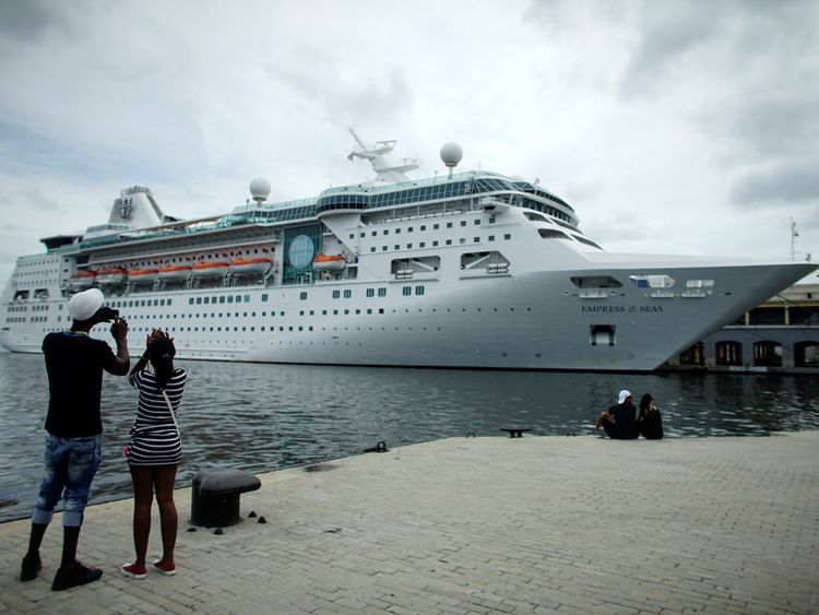 The cruise ship MS Empress of the Seas seen last year in Cuba