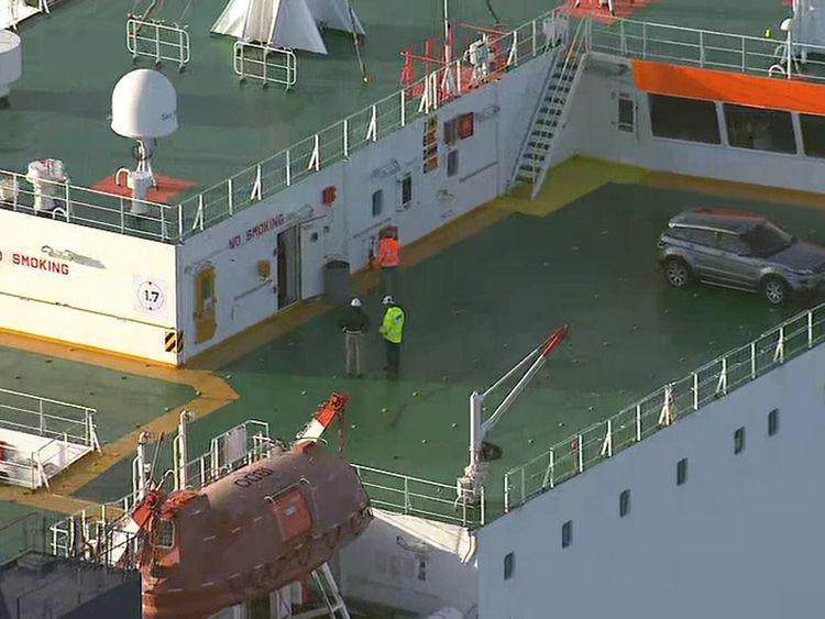 The stowaways became threatening on Friday morning