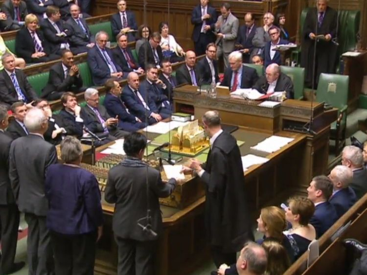 MPs will vote on whether or not they approve the withdrawal agreement