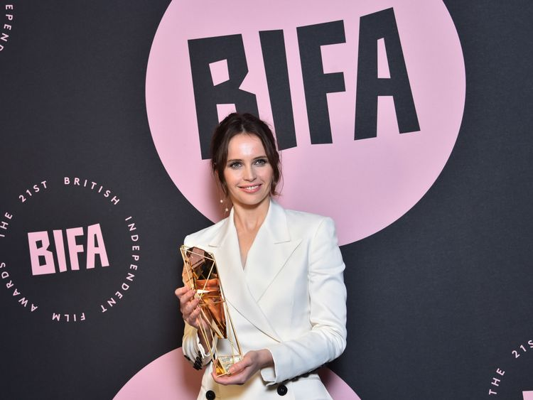 Star Wars actress Felicity Jones won the Variety Award