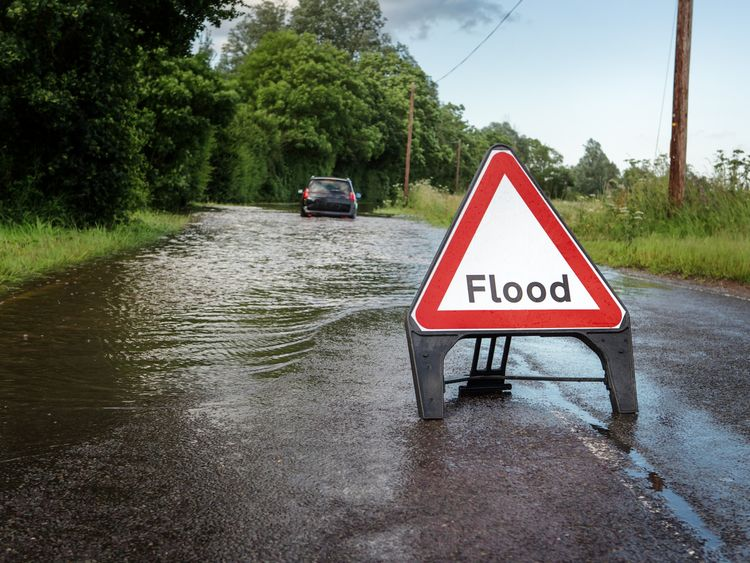 There is a risk of flooding after heavy rain over the weekend