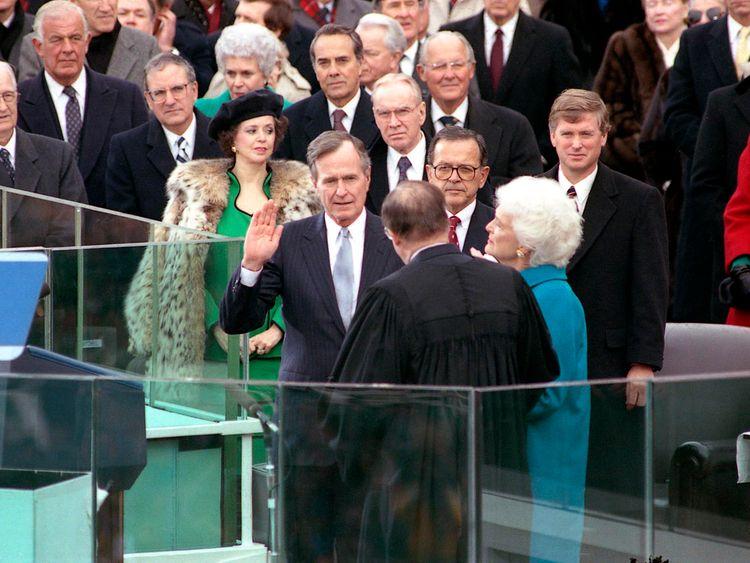 George HW Bush inauguration