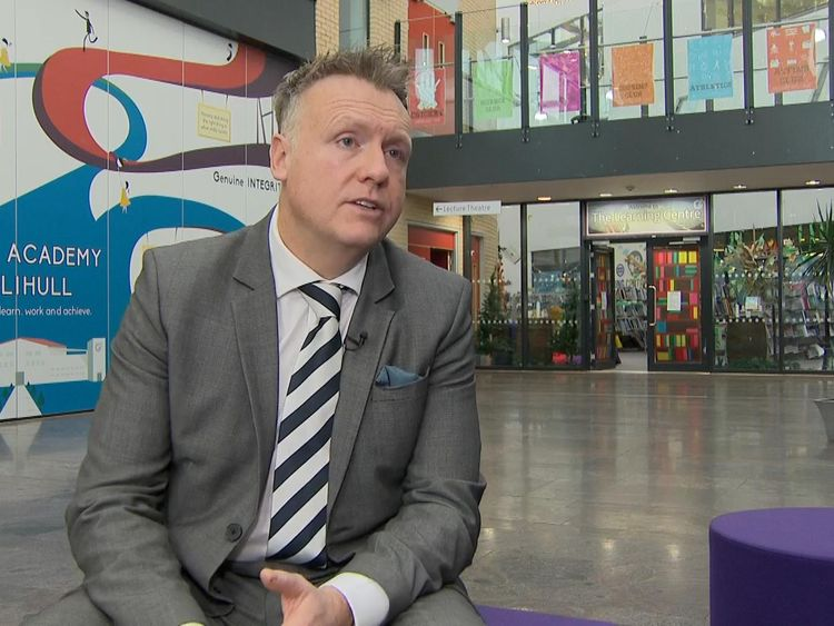 Principal Darren Gelder said he wanted to remove perceived barriers for their pupils