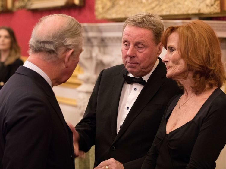 Harry Redknapp and wife of 54 years Sandra meeting Prince Charles in February