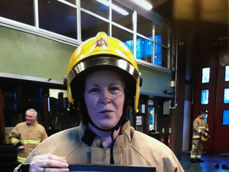 Heather Smart, the first female firefighter in Northern Ireland. Pic: NIFRS