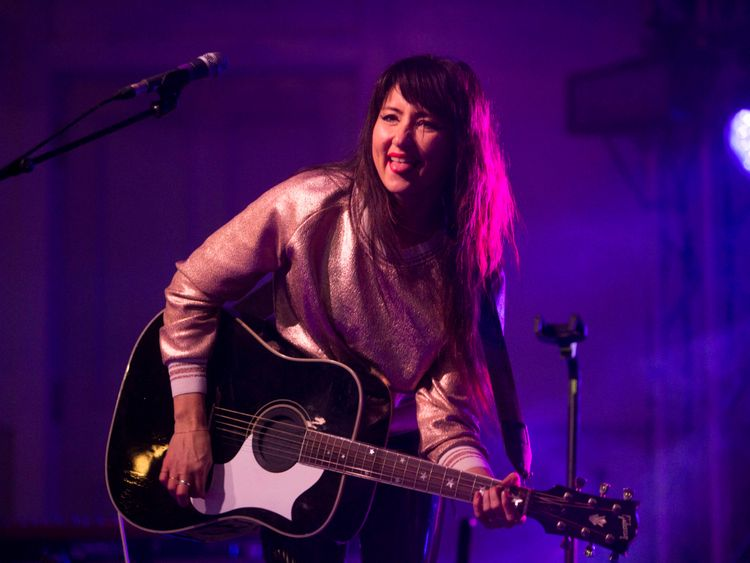 KT Tunstall performing at Kelvingrove Bandstand in Glasgow for the Sleep in the Park