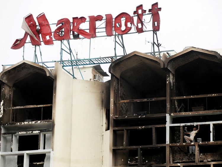 The Marriott Hotel was devastated by the suicide attack