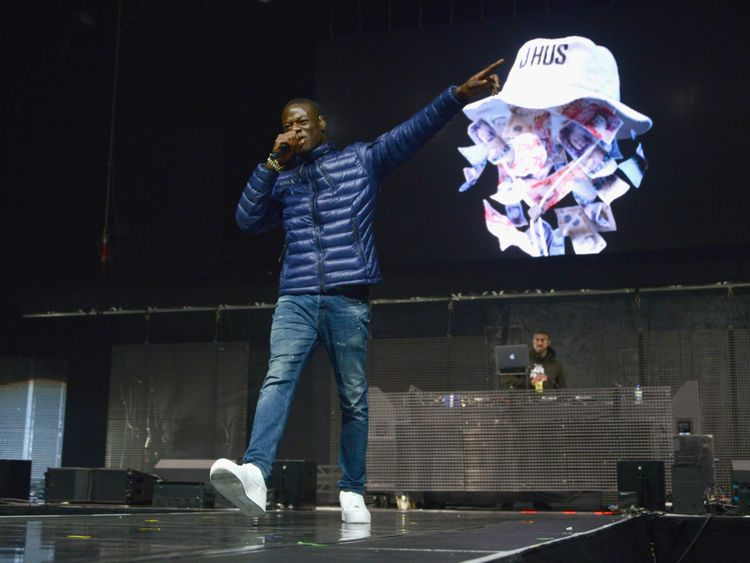 J Hus performs at the Kiss Haunted House Party in London in 2017