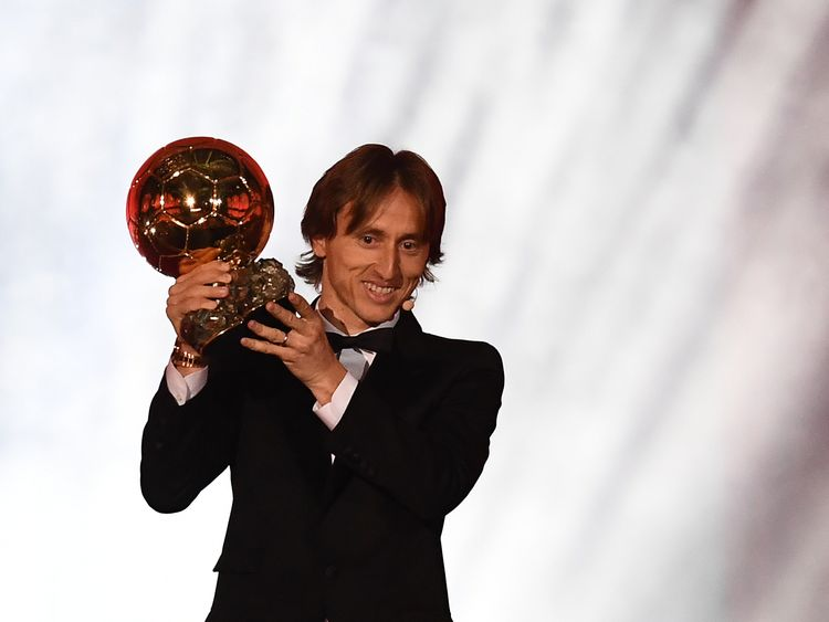 Luka Modric won the men's award