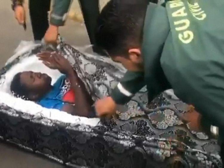 Migrants discovered hidden in mattresses
