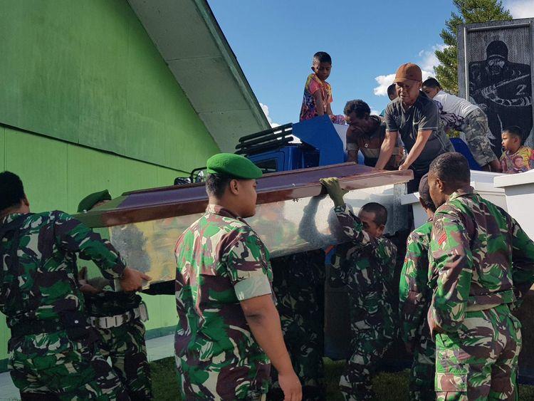 Dozens of builders 'shot dead by separatist rebels'