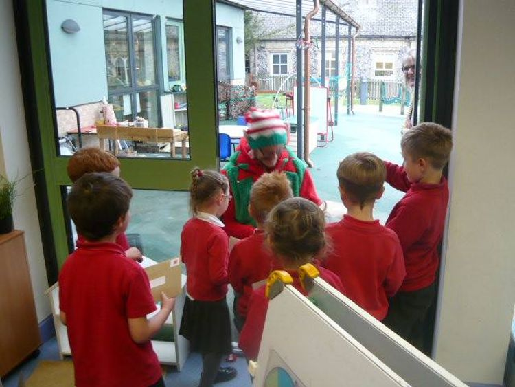 "Head teacher Mrs Emma Harding said the children were ""in awe"" of their most recent visitor"