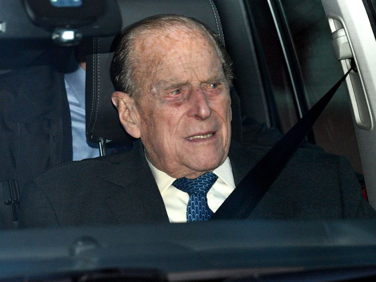 The Duke of Edinburgh leaving the Queen's Christmas lunch at Buckingham Palace, London. PRESS ASSOCIATION Photo. Picture date: Wednesday December 19, 2018. Photo credit should read: Joe Giddens/PA Wire