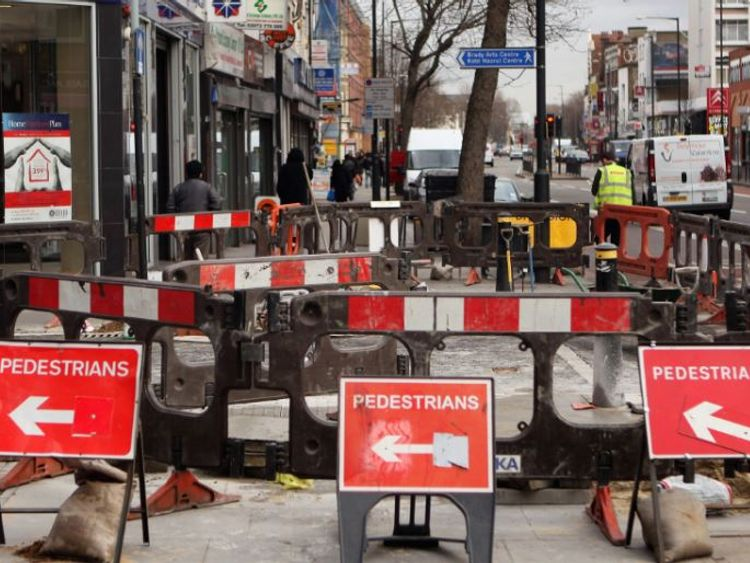 It is estimatd that disruption from road and pavement works costs the economy five billion pounds a year