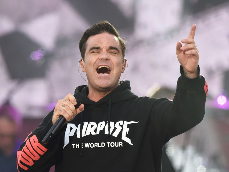 Robbie Williams' back injury put him out of action in 2017
