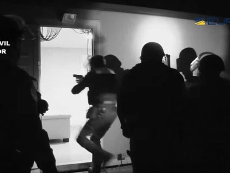 Police raided Robert Dawes's mansion in Benalmadena, Spain
